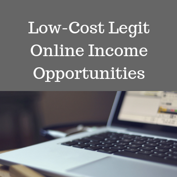 Low Cost Legitimate Online Income Opportunities